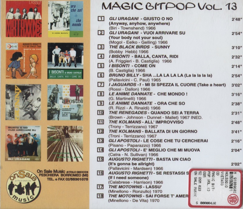 Gli Apostoli su Magic BitPop - Copertina cd - Retro