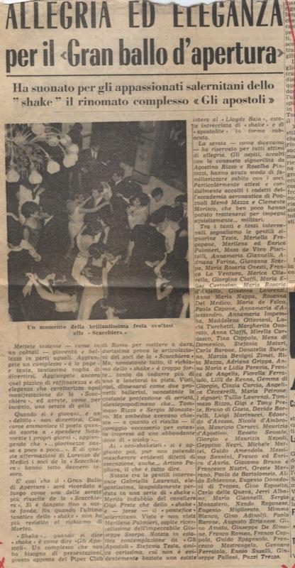 Giornale quotidiano per concerto e veglione a Salerno